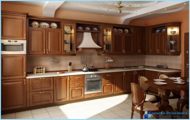 Klassinen tyyli keittiön sisustuksessa