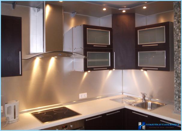 Lineāras LED virtuves lampas