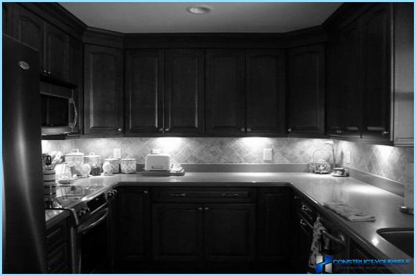 Virtuves darba zonas apgaismojums