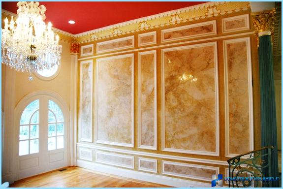 Intonaco decorativo in marmo