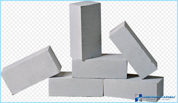 Mattone di silicato: composizione, conducibilità termica, densità