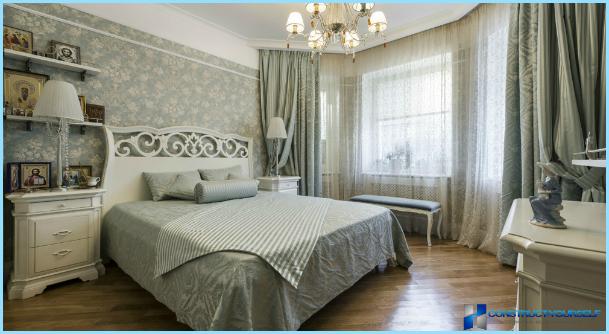 Provansas stila guļamistaba