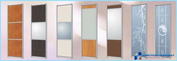 Speil skyvedør for garderobe