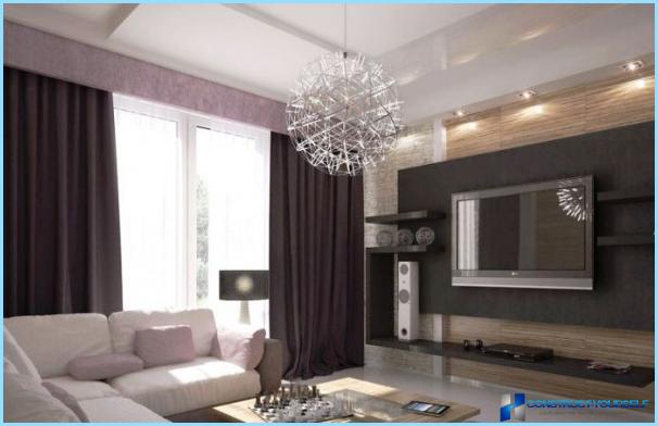 Sådan vælges en lysekrone i stuen