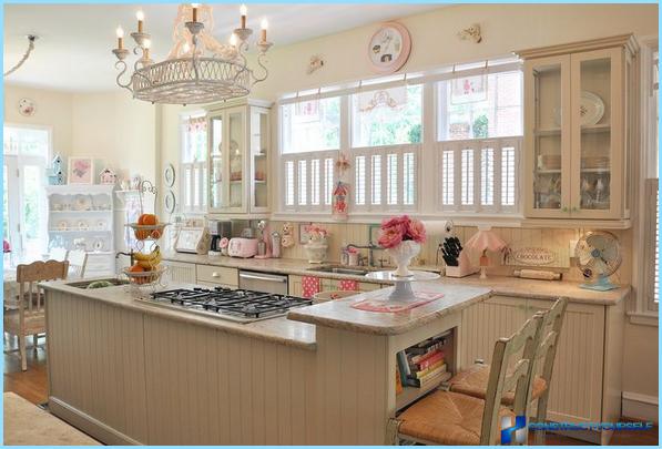 Kitchen design in retro style