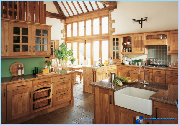 English style in the kitchen interior