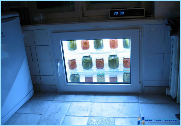 How to warm a winter refrigerator under the window with their hands