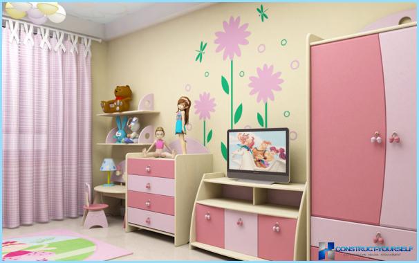 Sisustus lastenhuone tyttö