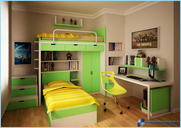The modern design of the room of the student
