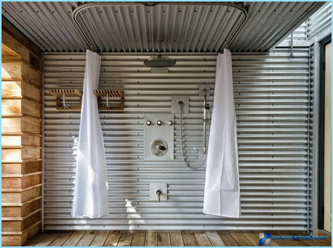 How to make a shower for the garden