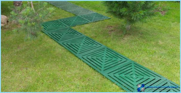 庭の道プラスチック