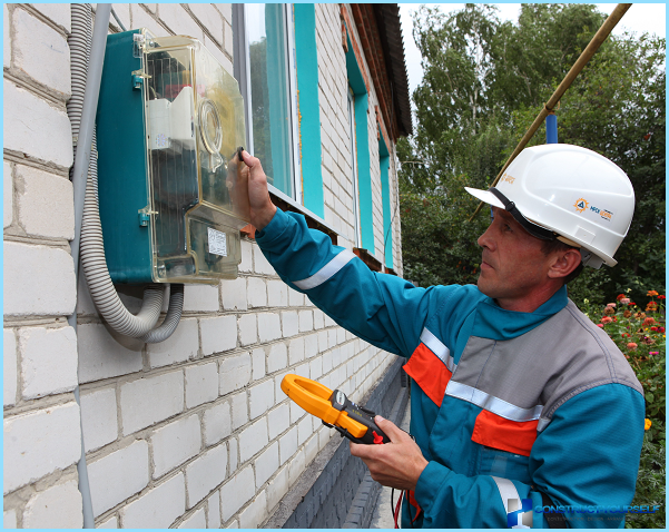 How to install an electric meter in a private house