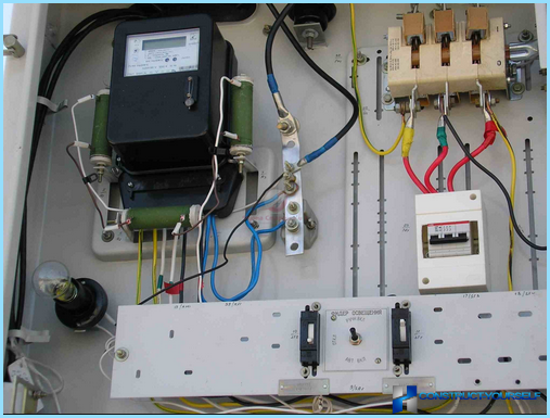 Connection of electricity meter in the apartment