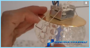 How to install and connect the lamp with your hands