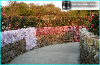 Murs de soutènement en blocs de verre