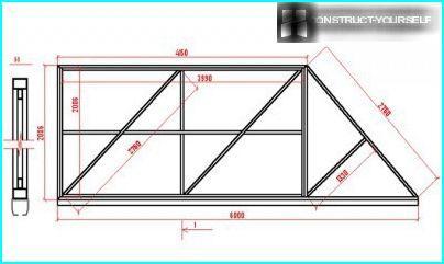 Schéma de cadre pour portails coulissants en métal