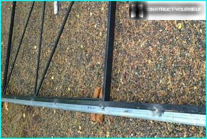 Montage du rail sur le châssis