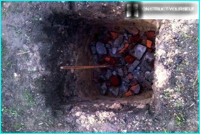 Oreiller en brique cassée