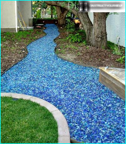 Jardin de verre multicolore
