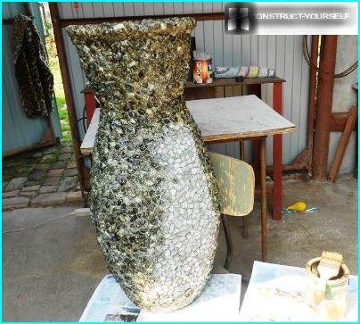 vase en pierre concassée