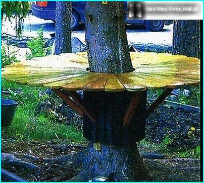 Salikts apaļais galds