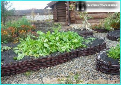 Usædvanlig ramme til grøntsagsbed