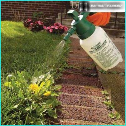 Treatment with herbicides