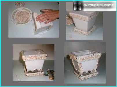 Coquillages - un matériau universel pour créer des pots de fleurs