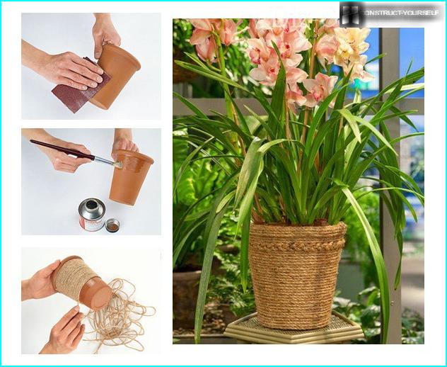 Vases décoratifs dans la conception du site: règles de composition des compositions + master classes