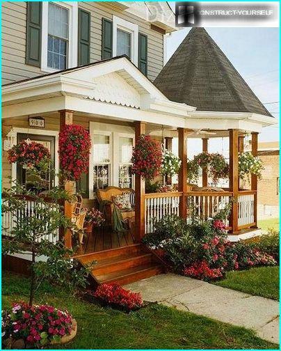 Das Design der Erweiterung im gleichen Stil wie das Haus
