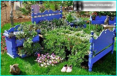 Originally designed flower garden