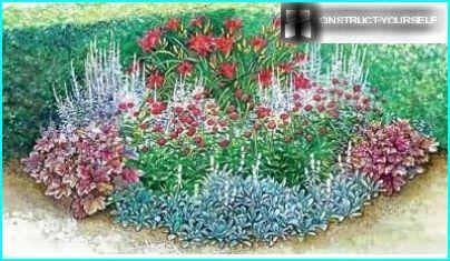 "View of flower garden ""cake"""