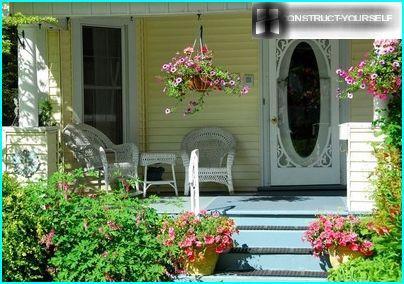 Europæisk stil veranda dekoration