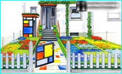 Geometrischer Vorgarten