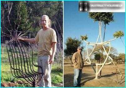 Skulpturale Komposition mehrerer Bäume