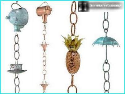 Opzioni della catena della pioggia