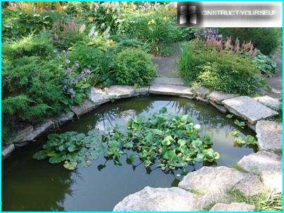 Kleiner Teich im englischen Stil
