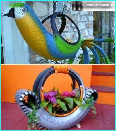 Unusual use of old tires