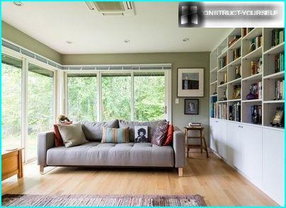 The reading-room on the veranda