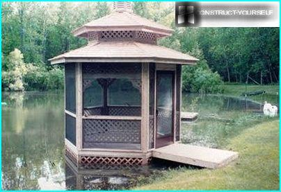 The gazebo on the water
