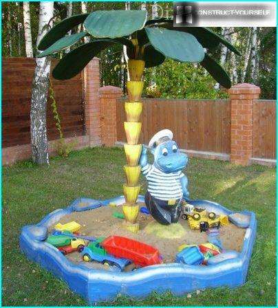 A children's sandpit