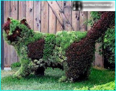 Grøn skulptur
