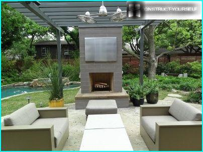 Patio in modern style