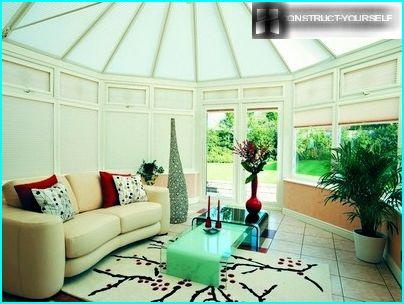 Roller blinds for protection from the scorching sun