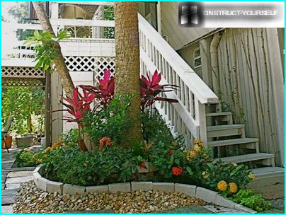 Elegante giardino fiorito in cortile