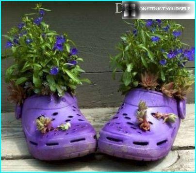 Gumijas čības ziediem