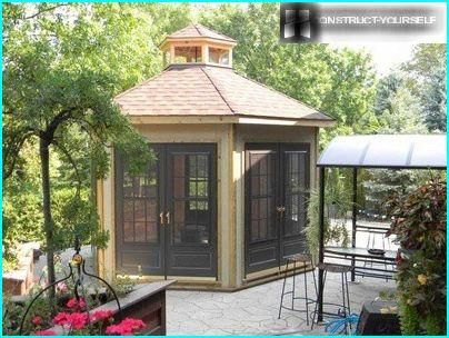 A covered gazebo