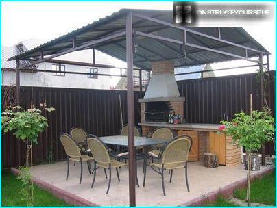 Option zur Ausstattung eines Gartenpavillons