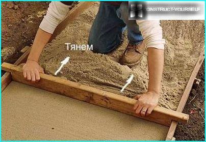 Sand layer