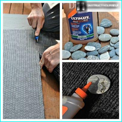 Create the rug of stones